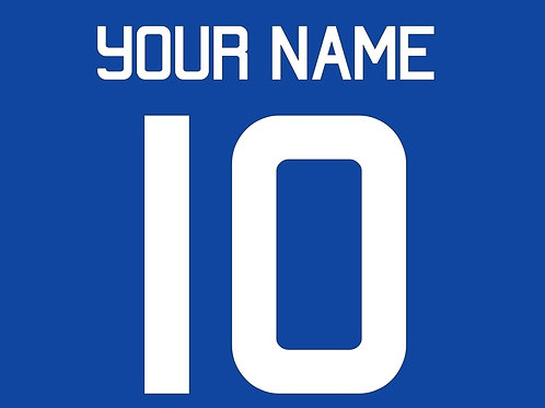 Football Shirt Name and/or Number S5S