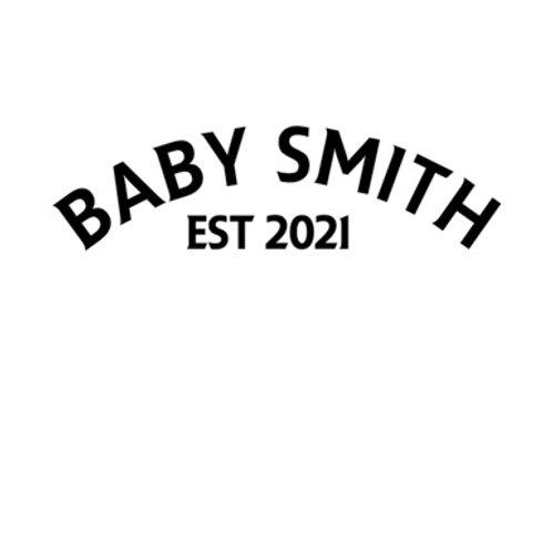 Personalised baby grow design 2