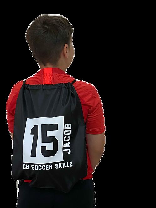 Personalised Football Drawstring Bag