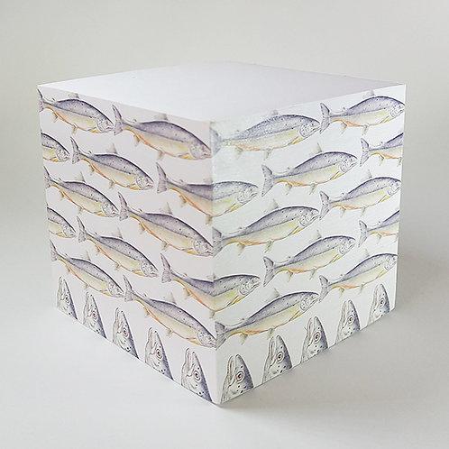 Salmon Memo Block