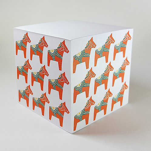 Orange Dalahorse Memo Block