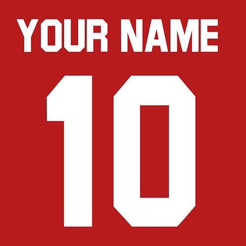 Football Shirt Name and/or Number S1S