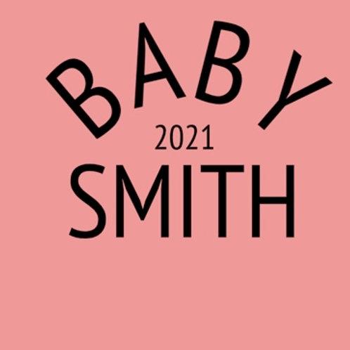 Personalised baby grow design 9