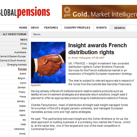 Global Pensions​,Financial Magazine,UK,​​ Sept 2007 ​