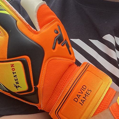 Goalkeeper Gloves Iron on Vinyl Full Name