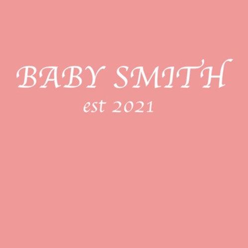 Personalised baby grow design 6