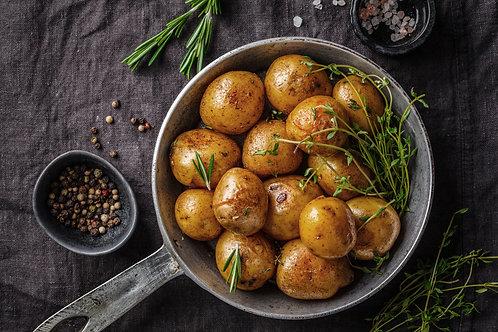 250 Gramm La Ratte Kartoffeln (gekocht & gebraten), mit Zitrone und Thymian