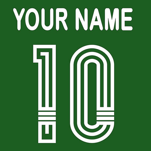 Football Shirt Name and/or Number S3S