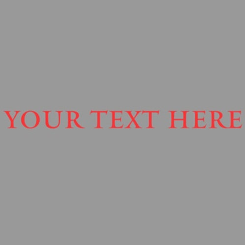 Customised iron on text for clothing 7