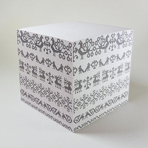 Cross stitch Memo Block