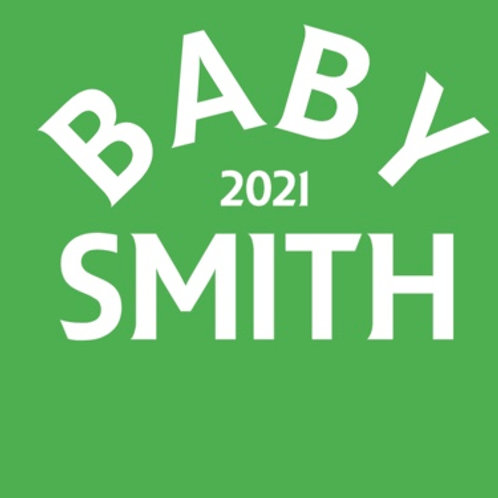 Personalised baby grow design 10