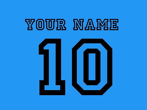Football Shirt Name and/or Number S8S