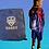 Thumbnail: Personalised Football Drawstring Bag with Badge