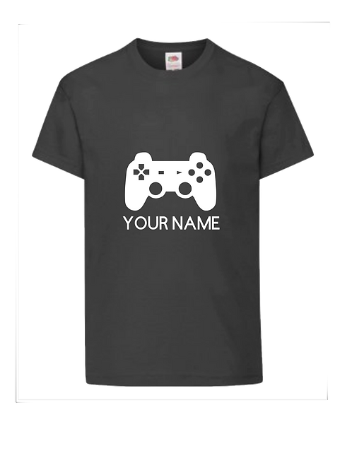 Gamer controller t-shirt  - personalised