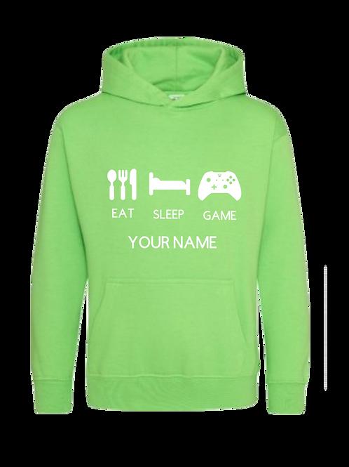 Personalised Eat,Sleep Gamer Hoodie 2