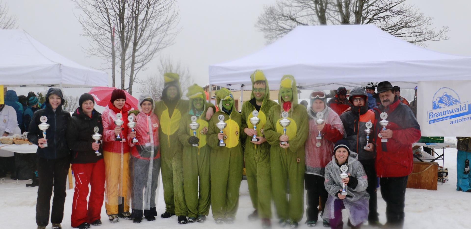 Rangverlesen Hornschlitten Rennen 2020 (