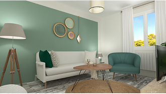 Décoration d'un studio pour location meublée