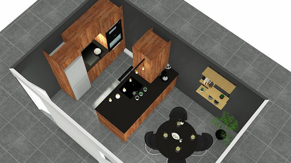 Projet modernisation cuisine - vue de dessus