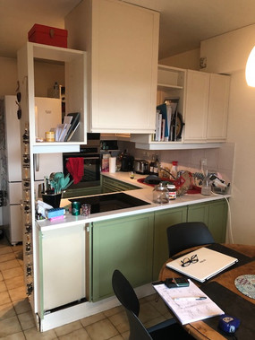 Plan de travail et mobilier cuisine - Photo avant chantier