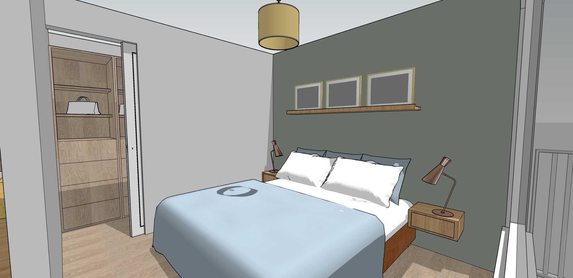 Vue de la chambre et du dressing