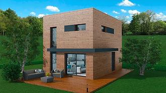 aménagement maison ossature bois à étage