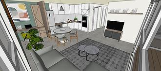 Aménagement et décoration intérieure d'un appartement neuf