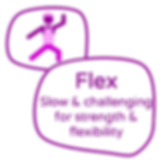 GGY Flex Icon and Text Pebbles White Fil