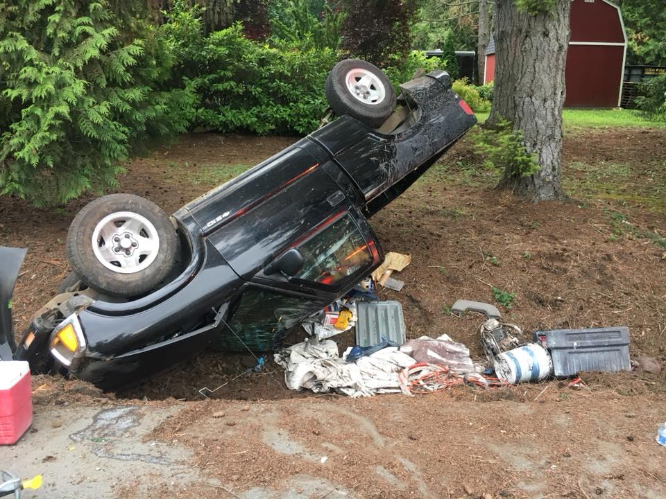 Roll-over collision on Viking Way | Poulsbo Fire Department