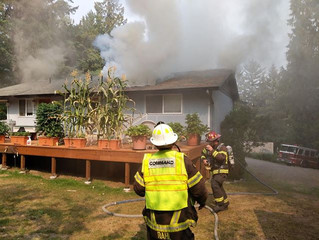 Firefighter's quick response saves home