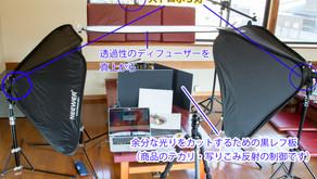 飲食店のメニュー撮影や、商品の物撮りの基本系