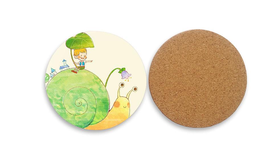 圓形水松木墊 (彩印)