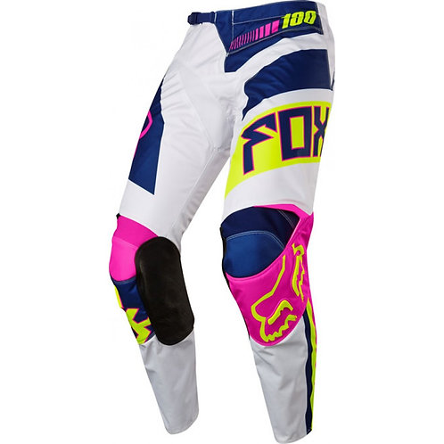 PANTALON MOTO FOX 180 FALCON NAVY/BLANCO
