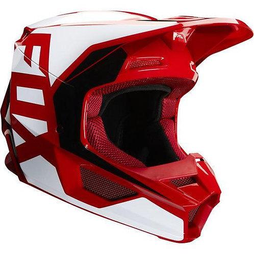 Casco Moto V1 Prix Rojo 2020 Fox