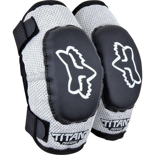Coderas Moto Infantil Titan Elbow Guard Negro/Plata Fox