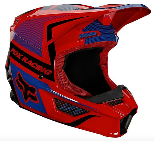 Casco Moto V1 Oktiv Rojo Fox
