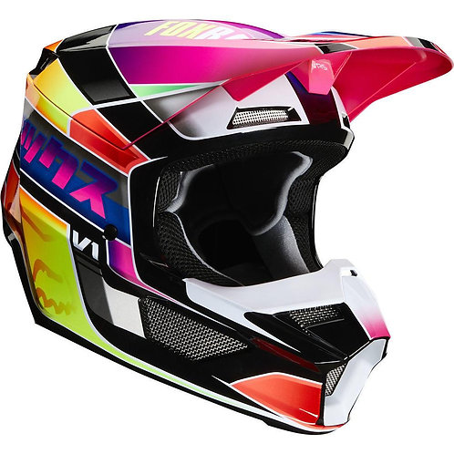 Casco Moto Niño V1 Yorr Multicolor Fox
