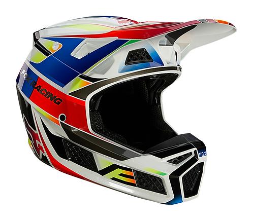 Casco Moto V3 Pigment Multicolor Fox
