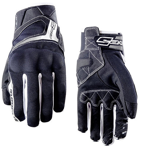 GUANTES FIVE RS3 NEGRO/BLANCO