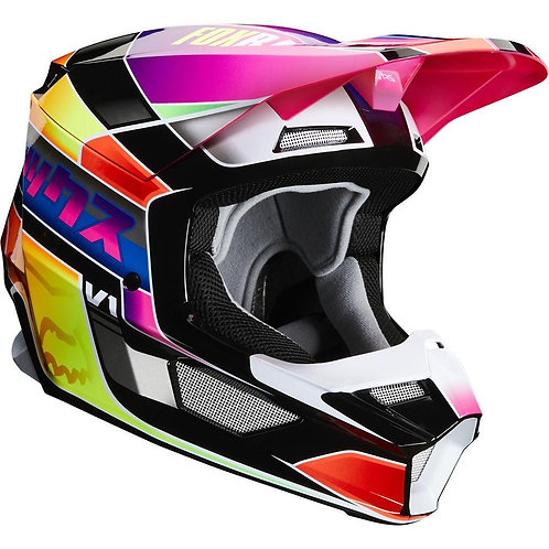 Casco Moto V1 Yorr Multicolor 2020 Fox
