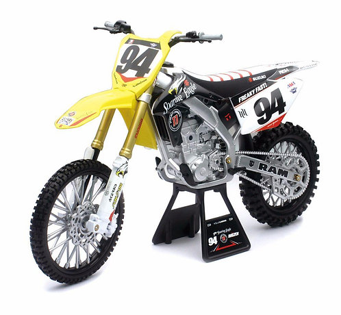 New Ray Die-cast Rch Suzuki Ken Roczen Rmz450 Motorcycle Replica 1:6 Scale Yello