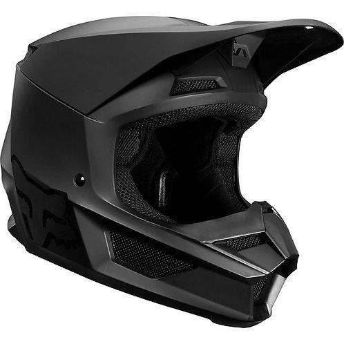 Casco Moto Niño V1 Negro Matte 2020 Fox