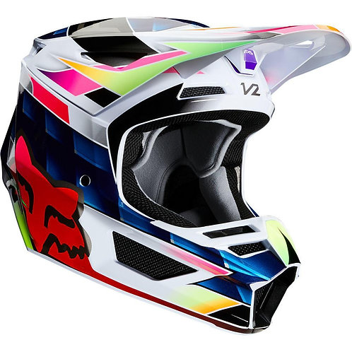 Casco Moto V2 Kresa Multicolor 2020 Fox