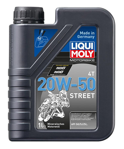 ACEITE LIQUI MOLY 20W50 STREET 4T