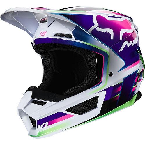Casco Moto V1 Gama Multicolor 2020 Fox