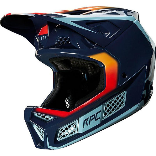 Casco Bicicleta Rampage Pro Carbon Daiz Azul Fox