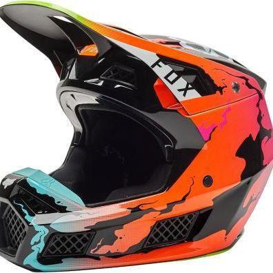 Casco Moto V3 Rs Pyre Multicolor Fox