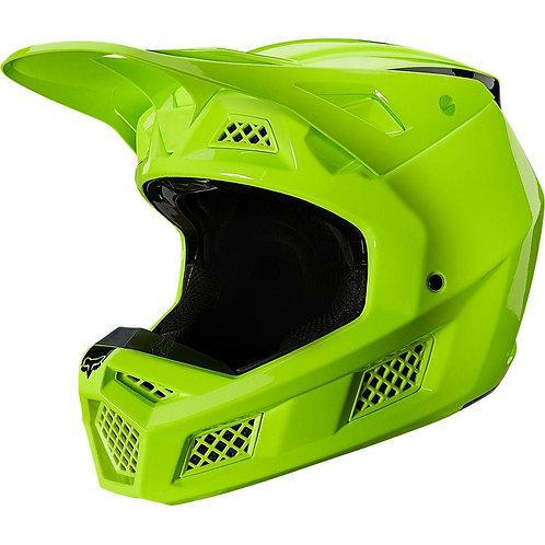 Casco Moto V3 Psycosis Amarillo Fluor Fox