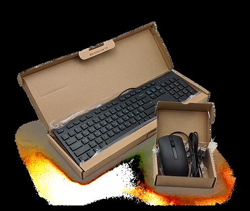 Комплект клавиатура Dell KB-216 и мышь Dell MS116 USB