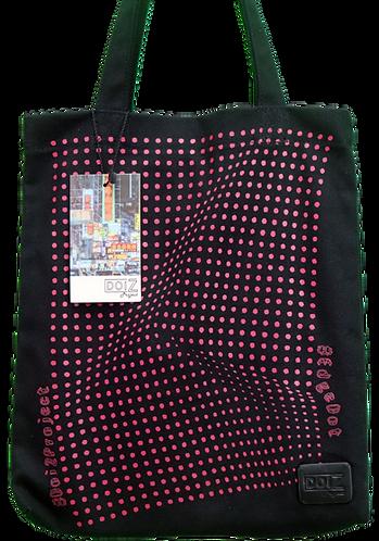 G10 - 11  粉紅色波點帆布袋