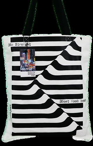 G3 - 4 白色立體線條帆布袋